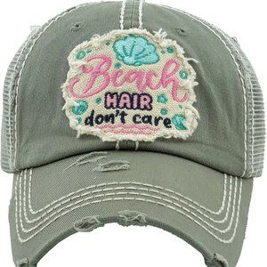 BEACH HAIR DON'T CARE Washed Vintage Ballcap
